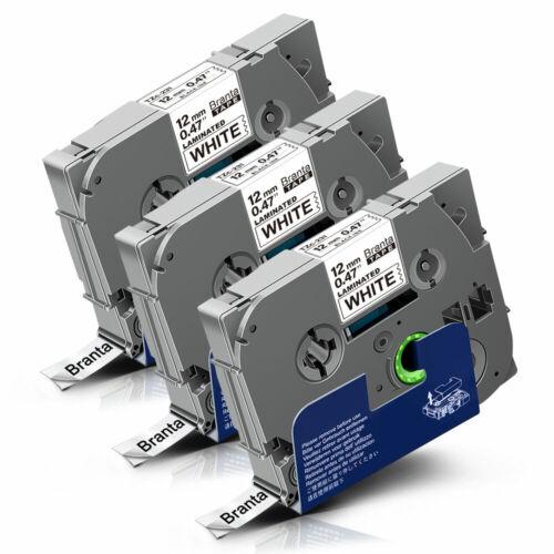 3xKompatibel Brother 12mm Schriftband TZe-231 für Brother P-touch 1010 1000 H105