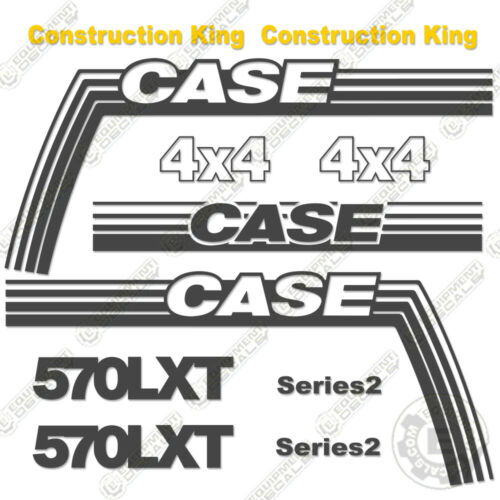 570 LXT Case 570LXT Decal Kit Backhoe Replacement Sticker Set 7 YEAR VINYL