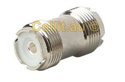SO239 UHF FEMALE CONNECTOR/JOINER PL259 CHANGE GENDER COAX ANTENNA CABLE ADAPTOR