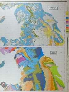 Map Of Northern England.Details About Vintage Large Map Britain Northern England Superficial Deposits Solid Geology