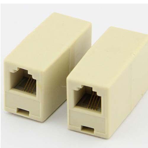 2pcs RJ11 6P4C Single Female to Female f//f Socket Telephone Adapter Connector