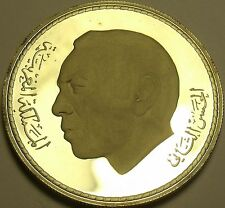 Rare Silver Proof Morocco AH1396 (1976) 50 Dirhams~4,400 Minted~Green March~Fr/S