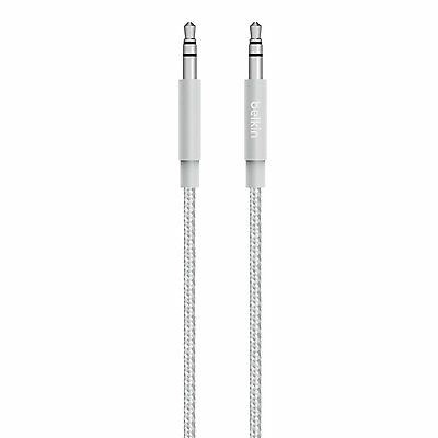 Belkin Premium 3.5mm Braided Tangle Free Auxiliary Audio Jack to Jack Cable 1.2m