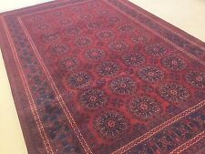 Item 8 6 7 X 9 11 Red Navy Blue Kunduz Afghan Oriental Area Rug Hand Knotted Wool