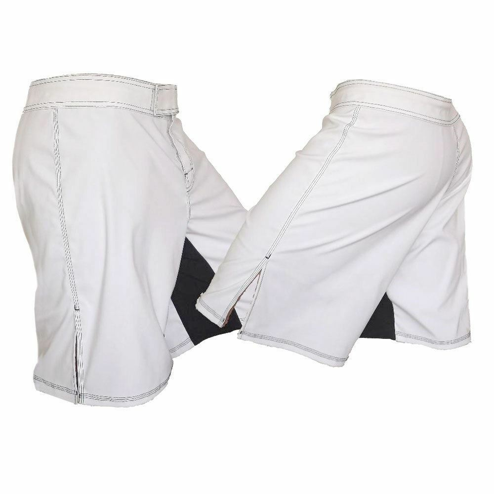 White MMA Fighting Shorts - Blank