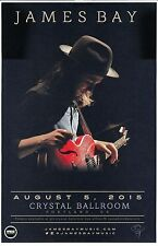 JAMES BAY 2015 Gig POSTER Portland Oregon Concert