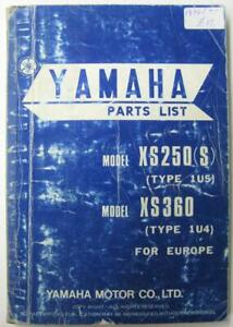 YAMAHA-XS250-S-1U5-XS360-1U4-1976-Illustrated-Motorcycle-Parts-List