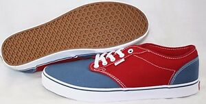 a72c7d12e3 NEW Mens VANS Atwood 2 Tone Red Blue Canvas Classic retro Sneakers ...