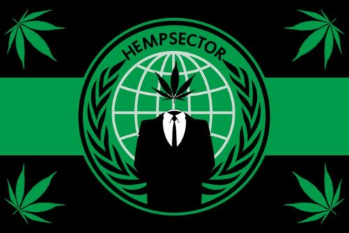 Hempsector Drapeau anonyme 3X2FT 5X3FT 6X4FT Polyester Bannière 100D Polyester