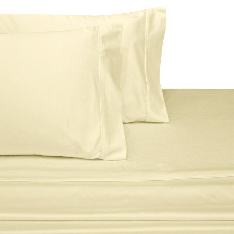 Queen Größe 100% Pure cotton Sateen Sheet Sets 300 Thread Count-Farbe Ivory