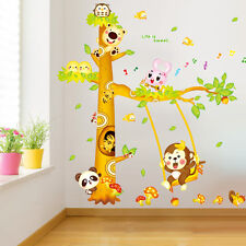 Jungle Animal Monkey Tree Wall Stickers Kids Room Art Decor Mural Decal Nursery