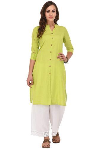 Indian Pakistan Bollywood Solid 100/% Cotton Ethnic Kurta Kurti
