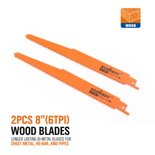 Reciprocating Saw Blades10pc Set Electric Sawzall Hackzall Metal Wood 1//2/""