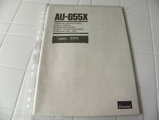 Sansui AU-G55X Owner's Manual  Operating Instructions Istruzioni New