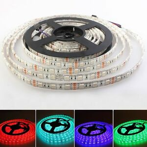 1-20M-RGB-5050-SMD-Waterproof-LED-Light-Strip-Flexible-IR-Remote-12V-Power-Kit