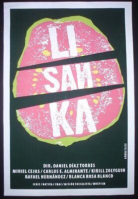 Lisanka Original Cuban Silkscreen Movie Poster Cold War Love Story Cuba Art Ebay