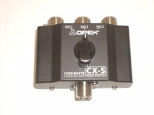 OPEK CX5 3 POSITION ANTENNA COAX COAXIAL SWITCH w/ SO-239 1KW CB HAM RADIO