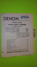Denon dct-1000r service manual original repair book car stereo cd player tuner