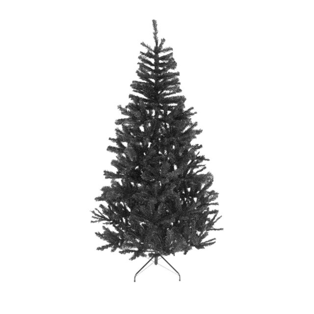 8ft Black Christmas Tree Imperial Tips Artificial Metal Stand