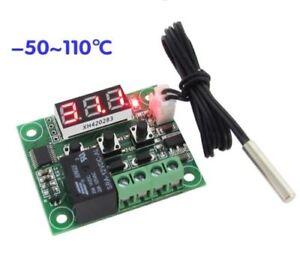 -50-110°C W1209 Digital thermostat Temperature Control Switch 12V + sensor RF
