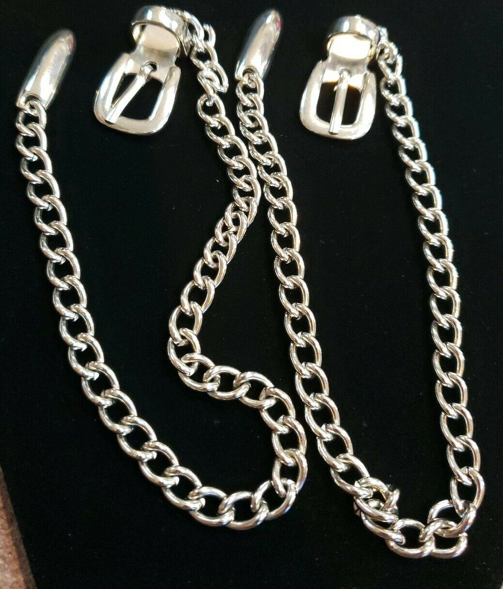 Silver Buckle Boot Chains 15