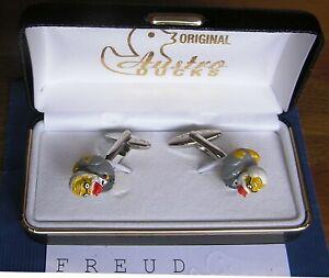 Manschettenknoepfe-034-Sigmund-Freud-034-original-Austroducks-Design-Messing-Silber