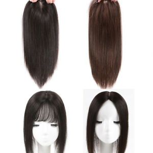 Women-Clip-In-100-Real-Virgin-Human-Hair-Top-Piece-Topper-Toupee-Hair-Pieces