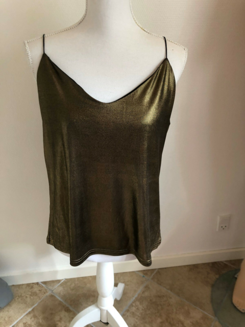 Top, Soaked in luxury , str. 42, Guld, ., Ubrugt, Ny soaked…
