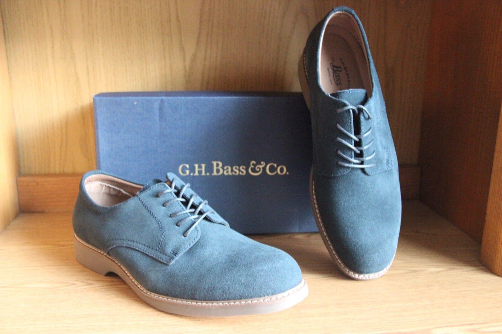 G.H. Bass Pasadena Suede Pelle Navy Blue Oxford Shoe Uomo Taglia 11.5  7013206