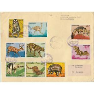 1972-Paraguay-Wildlife-Schleichtiere-9-Werte-Umschlag-FDC-Reiste-MF63238