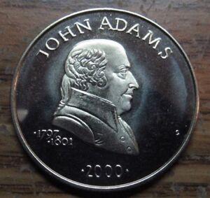 John Adams Republic Of Liberia 5 Coin