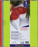 CounterArt Flexible Non-Skid Cutting Mat Assorted Colors Set of 4 Kitchen