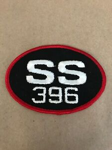 Vtg-SS-396-Chevelle-Embroidered-Sew-On-Patch-4-Auto-Racing-Badge-Chevrolet-Chev