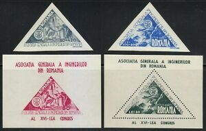 Romania-1945-MNH-Mi-913-914-Blocks-29-30-Sc-CB2-CB3-C22-C23-Romanian-Engineers