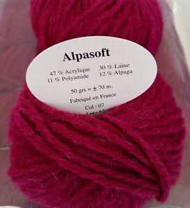 10-Pelotes-Laine-et-Alpaga-ALPASOFT-Marque-Francaise-Rose-Fushia