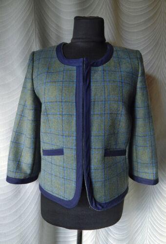 Dubarry Pure  Wool Tartan Collarless Jacket Size U