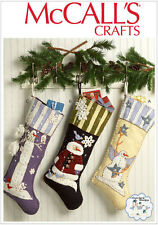 McCall's 7063 Sewing Pattern to MAKE Felt Applique Christmas Stockings