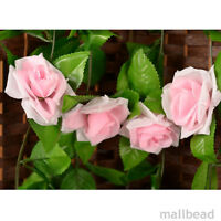 8Ft Colorful Rose Garland Silk Flowers Vine Wedding Party Home Garden Decor New