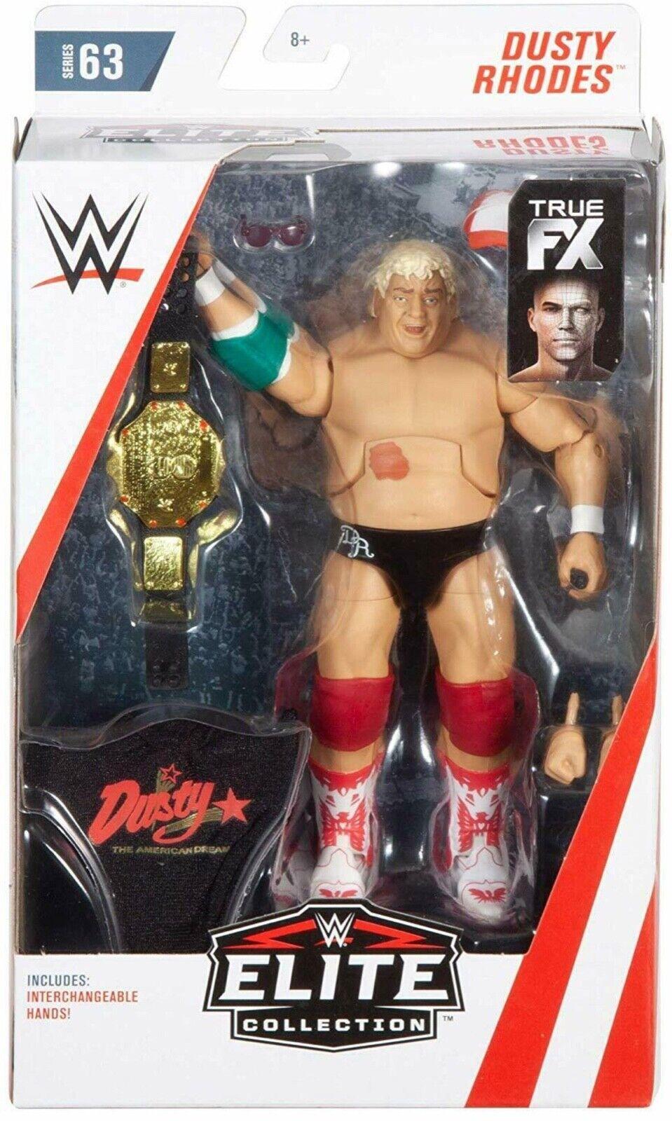 Wwe Dusty Rodi Fx Cintura Accessori Mattel Mattel Mattel Serie Élite 63 Wrestling cifra Nxt c54286