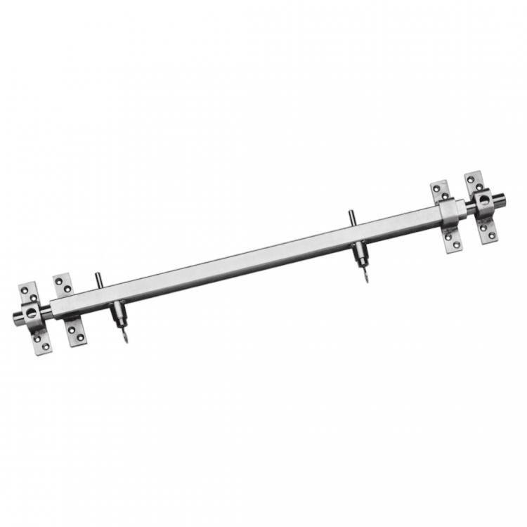Stangenschloss,Querriegel 850 mm, Einbruchssicherung f. Nebentüren ohne Zylinder