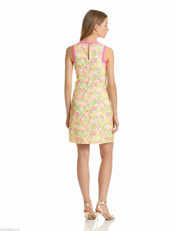 238 Lilly Pulitzer Percy Multi Floral Sunbonnet Eyelet Eyelet Eyelet Lace Shift Dress 90de12