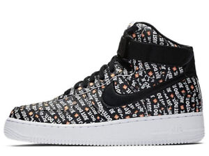 Details about Nike Women's Air Force 1 High LX AO5138 001 'Just Do it' BlackWhite sz 11W, 12W