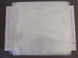 50-POLY-RECORD-LP-OUTER-SLEEVES-3-MIL-THICK-FOR-12-034-33-RPM-FAST-SHIPPING