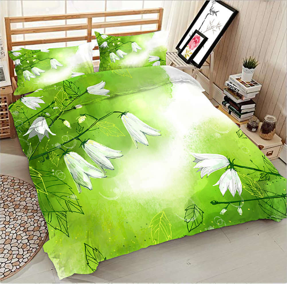 Withered  Mezereon 3D Printing Duvet Quilt Doona Covers Pillow Case Bedding Sets