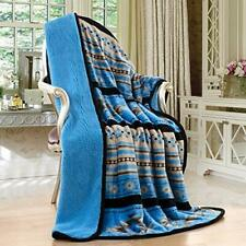 Turquoise Southwest Native American Indian Silk Touch Round Throw Blanket