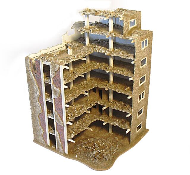 Ruine 22  zerstörtes Industriegebäude/Haus/Diorama für 1:72/76   Handarbeit