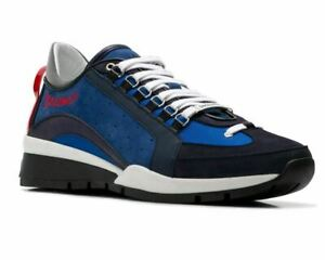 best cheap 30541 ba449 Details about Dsquared2 551 Sneakers Snm0404 M1420 Leather Dsquared  Trainers Blue