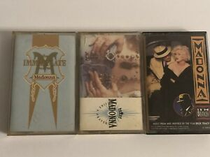 Madonna-Cassette-Lot-Of-3-Immaculate-Collection-I-m-Breathless-Like-A-Prayer
