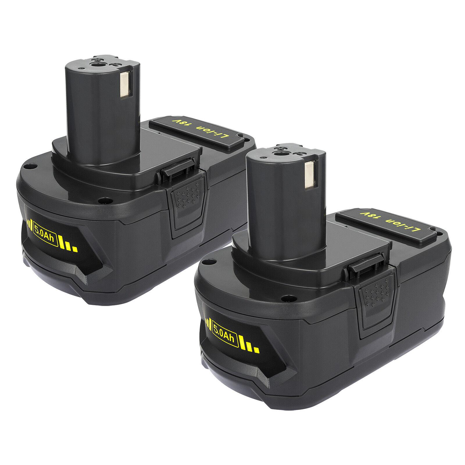 2 X 5000mAh 18V Akku für Ryobi ONE+ P108 P107 P122 P104 P105 P102 P103 Batterie