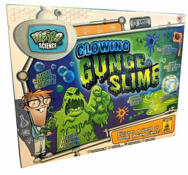 gunge Incandescente Goo WEIRD SCIENCE Set Childrens Fun Kit di attività Giant SLIME /& NN